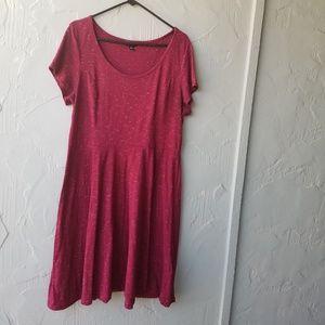 TORRID magneta heather Skater dress 2x